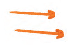 Safety Gaol Net pegs